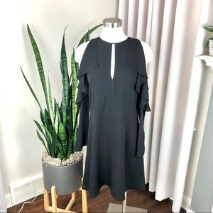 Theory Women's Sophronia Cold Shoulder Dress 6 NWT